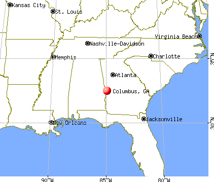 Columbus, Georgia map