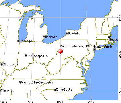 Mount Lebanon, Pennsylvania map