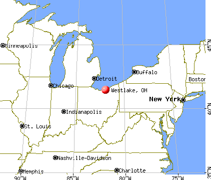Westlake, Ohio map