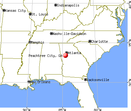 Peachtree City Georgia GA Profile Population - Georgia map peachtree city
