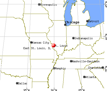 East St. Louis, Illinois map