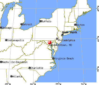 Randallstown, Maryland map