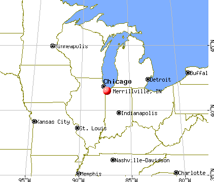 Merrillville, Indiana map