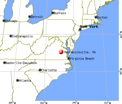 Mechanicsville, Virginia map