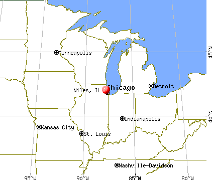 Niles, Illinois map
