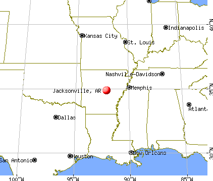 Jacksonville, Arkansas map