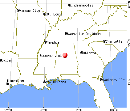Bessemer, Alabama map