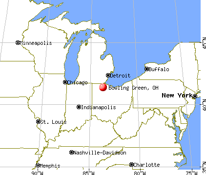 Bowling Green, Ohio map