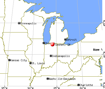 Goshen, Indiana map