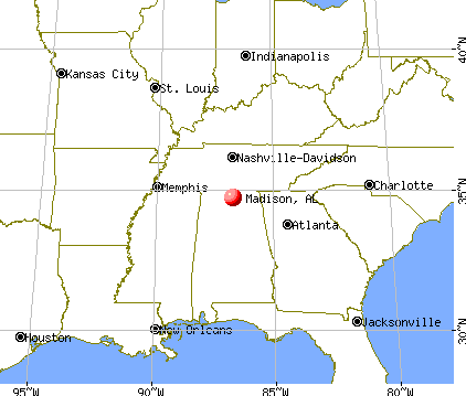 Madison, Alabama map