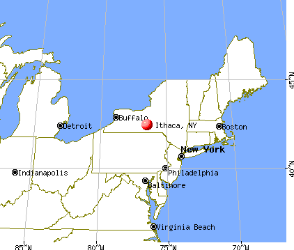 Ithaca, New York map