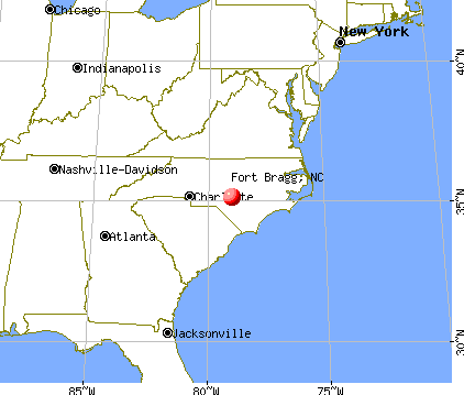 Fort Bragg, North Carolina map