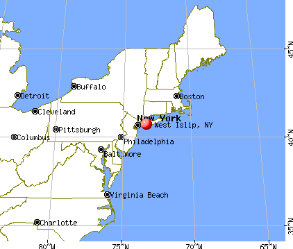 West Islip, New York map