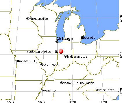 West Lafayette, Indiana map
