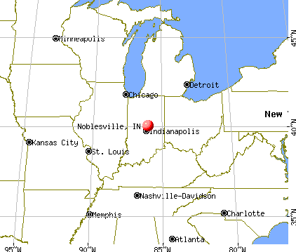Noblesville, Indiana map