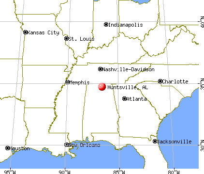 Huntsville, Alabama map