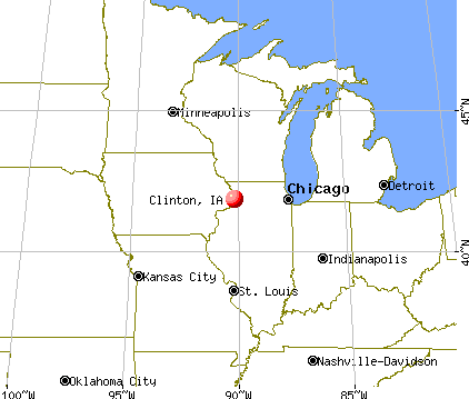 Clinton, Iowa map