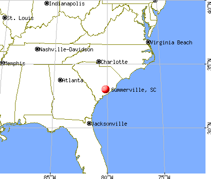 Summerville, South Carolina map