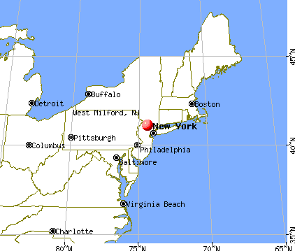 West Milford, New Jersey map
