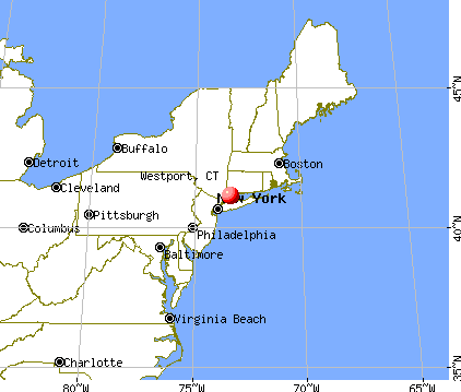Westport, Connecticut map