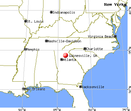 Gainesville, Georgia map