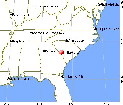 Aiken, South Carolina map