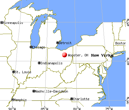 Wooster, Ohio map