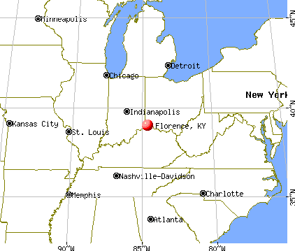 Florence, Kentucky map