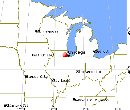 West Chicago, Illinois map