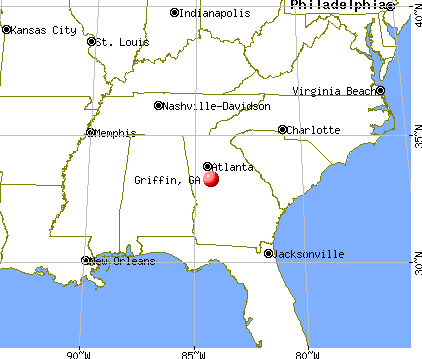 Griffin, Georgia map