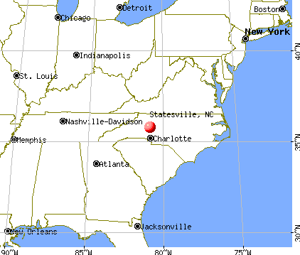 Statesville, North Carolina map