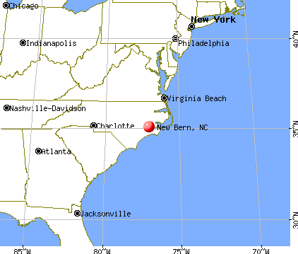 New Bern, North Carolina map
