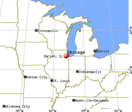 Darien, Illinois map