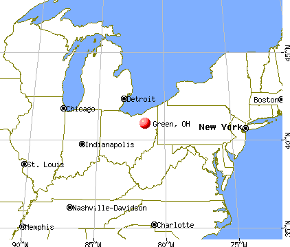 Green, Ohio map