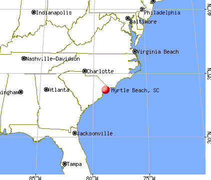 Myrtle Beach, South Carolina map