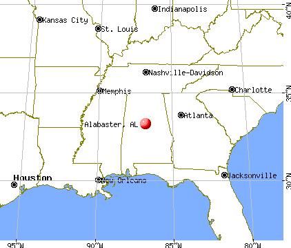 Alabaster, Alabama map