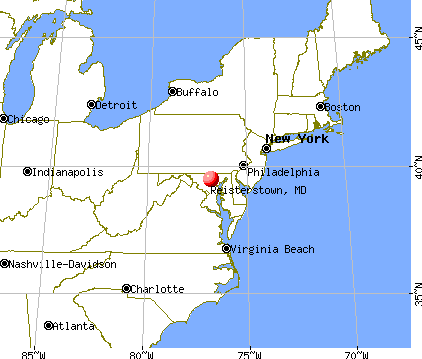 Reisterstown, Maryland map