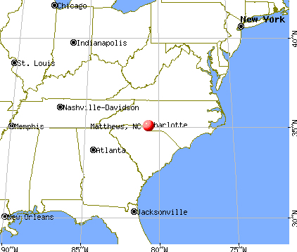 Matthews, North Carolina map