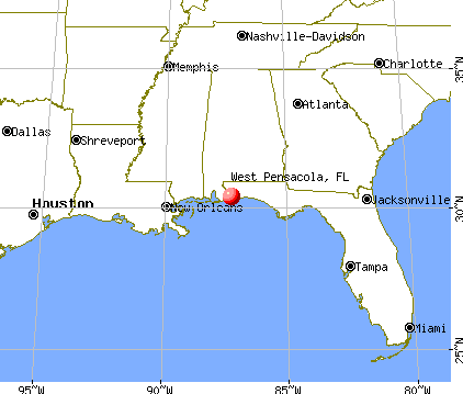 West Pensacola, Florida map