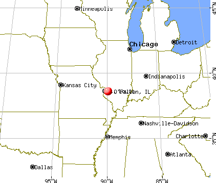 O'Fallon, Illinois map