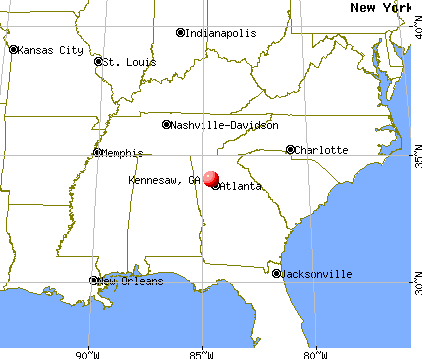 Kennesaw, Georgia map