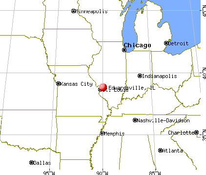 Edwardsville, Illinois map
