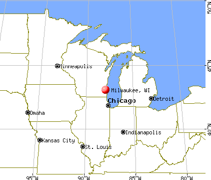 Milwaukee, Wisconsin map