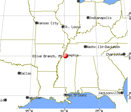 Olive Branch, Mississippi map