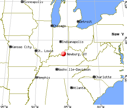 Newburg, Kentucky map