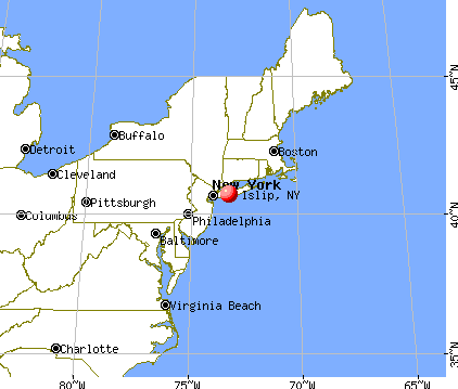 Islip, New York map