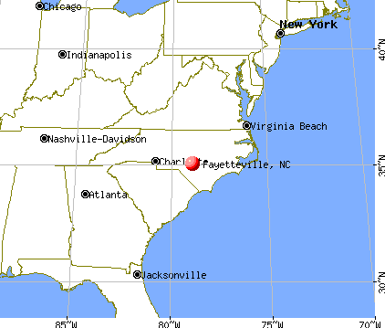 Fayetteville, North Carolina map
