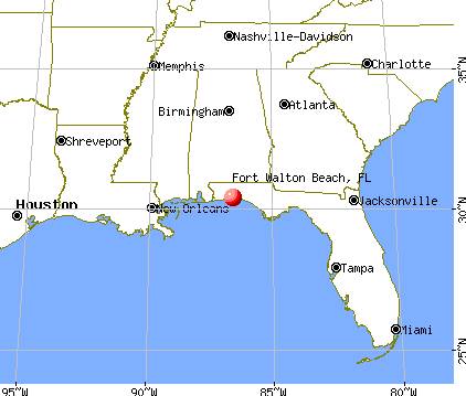 Fort Walton Beach, Florida map