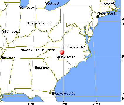 Lexington, North Carolina map