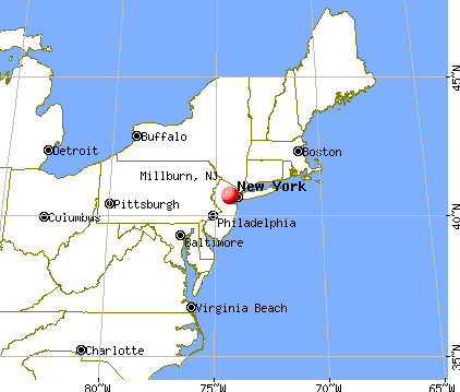 Millburn, New Jersey map